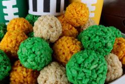 Green Bay Packers Rice Krispie Bites