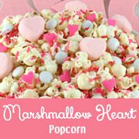Marshmallow Heart Popcorn