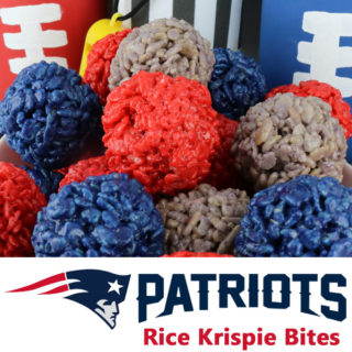 New England Patriots Rice Krispie Bites