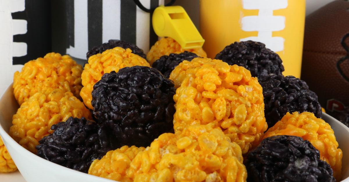 Pittsburgh Steelers Rice Krispie Bites - Two Sisters