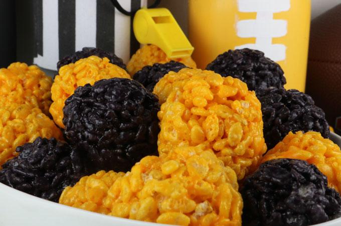 Pittsburgh Steelers Rice Krispie Bites