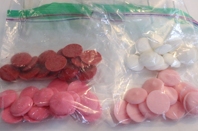 Candy Metls for Valentine's Marshmallow Pops