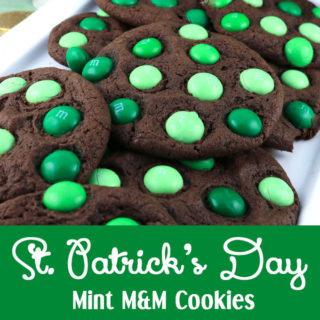 St. Patrick's Day Mint M&M Cookies