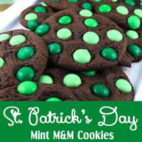 St. Patrick's Day Mint M&M Cookies