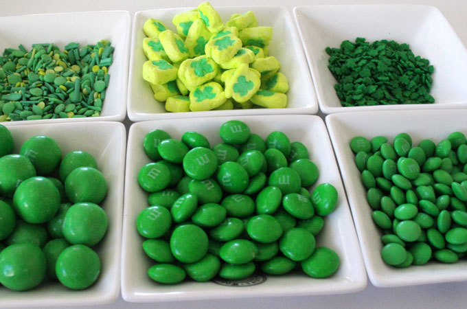 Candy for the St. Patrick's Day Popcorn