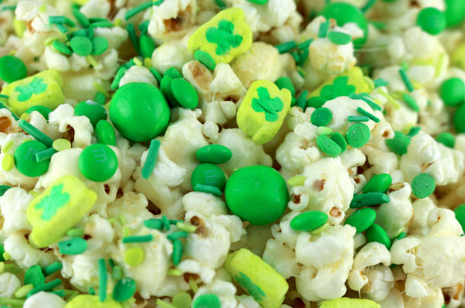 Candy in the St. Patrick's Day Popcorn