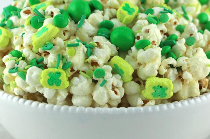 Storing St. Patrick's Day Popcorn