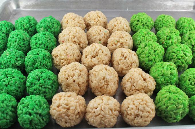 St. Patrick's Day Rice Krispie Bites