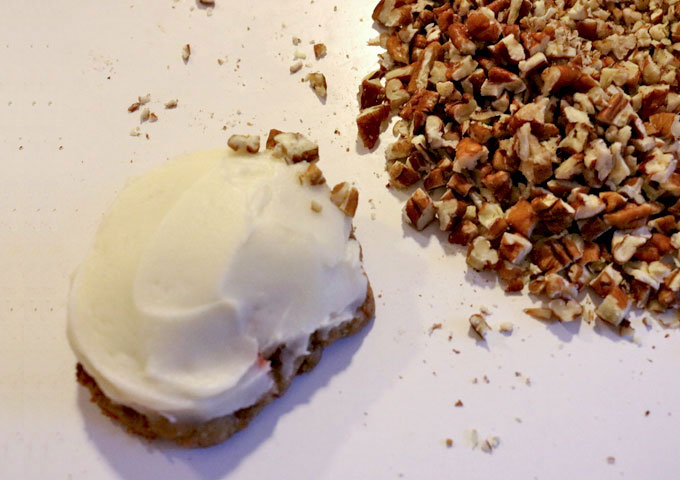 Add the pecans to the Carrot Cake Cookies