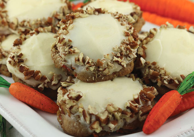 Carrot Cake Cookies with Cream Cheese Frosting are the perfect Spring ...