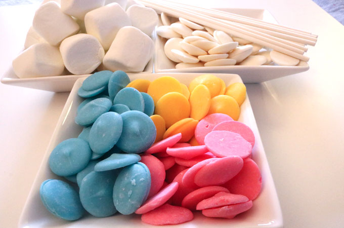 Ingredients for Celebration Marshmallow Pops