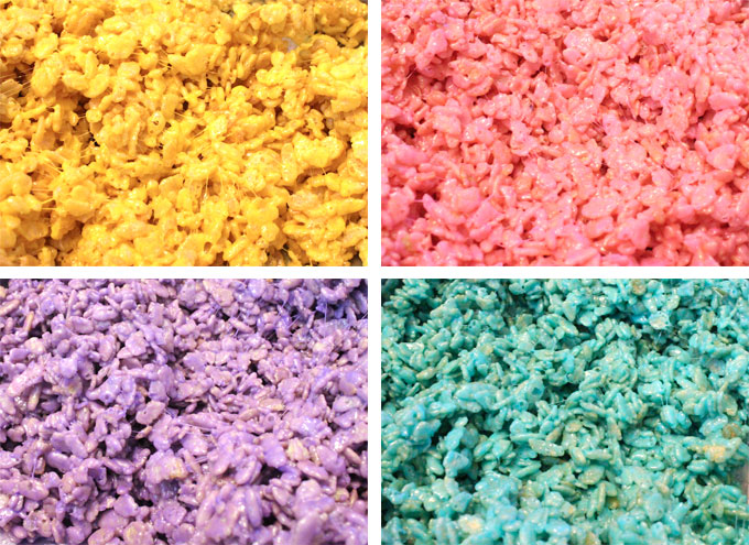 Rice Krispie Treat Mixture for the Celebration Rice Krispie Treats