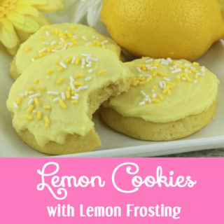 Lemon Cookies with Lemon Frosting