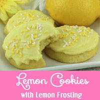 Lemon Cookies with Lemon Frosting