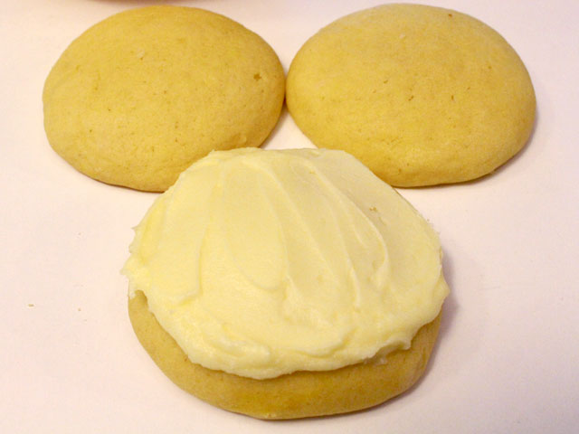 Frost the Lemon Cookies with Lemon Frosting