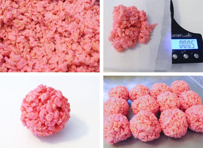 How to make Rice Krispie Bites - Pink