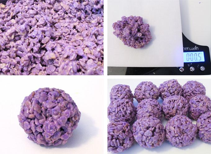 How to make Rice Krispie Bites - Purple