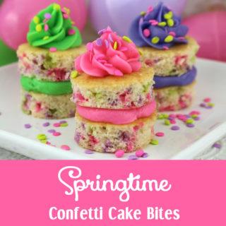 Springtime Confetti Cake Bites