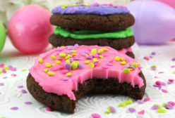 Springtime Frosted Chocolate Cookies