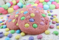 Springtime Pink M&M Cookies