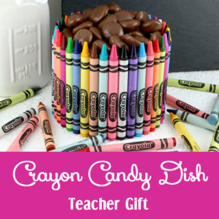 Crayon Candy Dish Teacher Gift