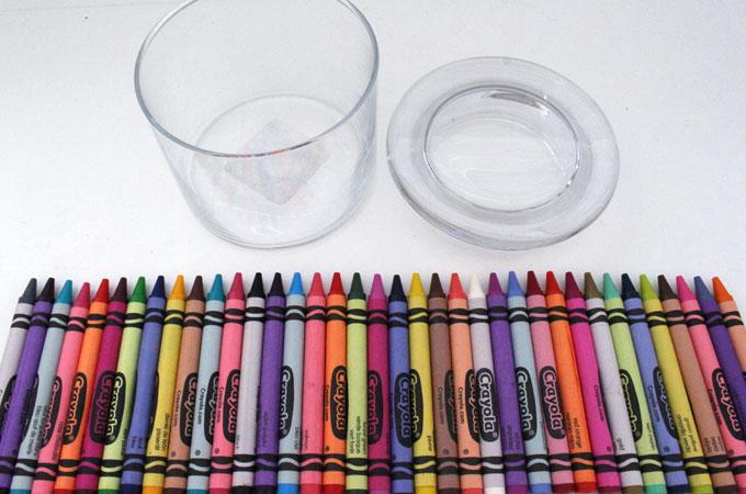 Choose a color scheme for your Crayon Candy Jar