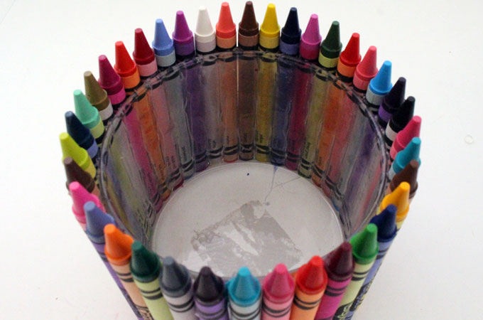 Finished Crayon Candy Jar