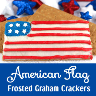 American Flag Frosted Graham Crackers