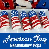 American Flag Marshmallow Pops