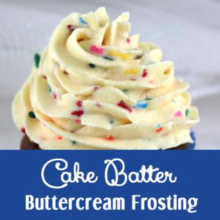 Cake Batter Buttercream Frosting