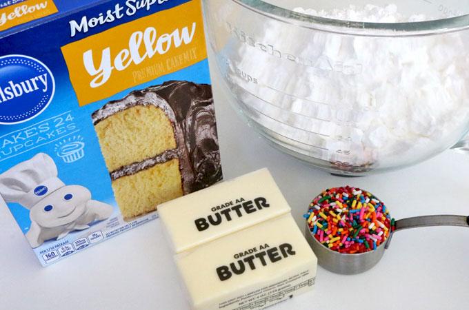 Ingredients for Cake Batter Frosting