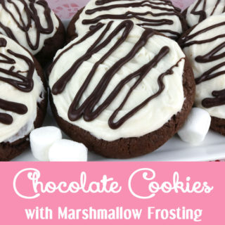 Chocolate Cookies with Marshmallow Frosting
