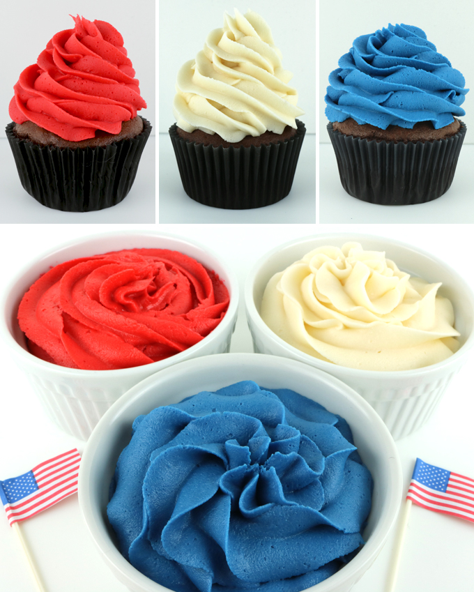 How to Make Patriotic Frosting - Two Sisters Crafting