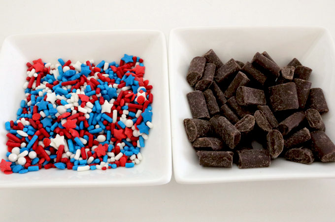 Candy Mix-ins for our Patriotic Cookie Pizza