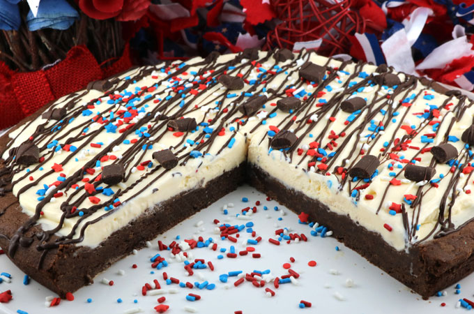 Patriotic Ice Cream Cookie Pizza Two Sisters