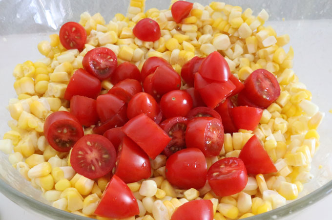Cherry Tomatoes for Corn and Avocado Summer Salad