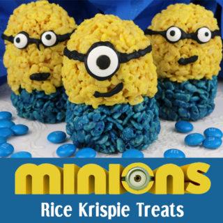 Minions Rice Krispie Treats