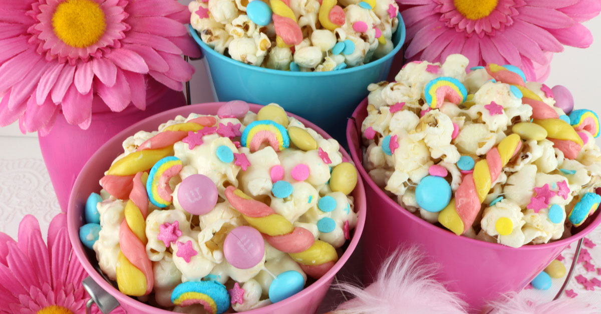Unicorn Popcorn Two Sisters