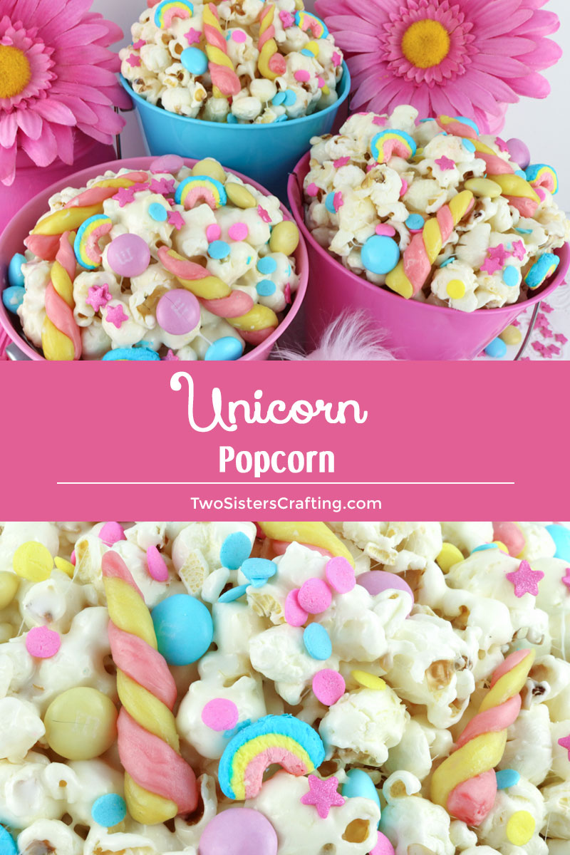 Unicorn Popcorn Two Sisters