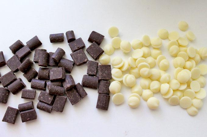 White and Dark Chocolate Mixins