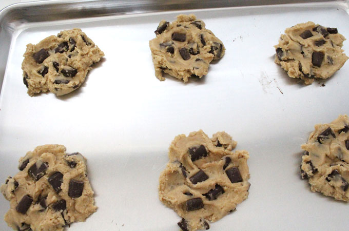 Chocolate Chip Cookies ready for the oven