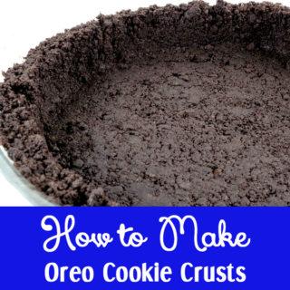 How to Make Oreo Cookie Crusts