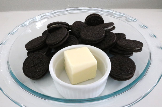 Ingredients for Oreo Cookie Crusts