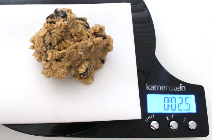 Food Scale for measuring cookie dough