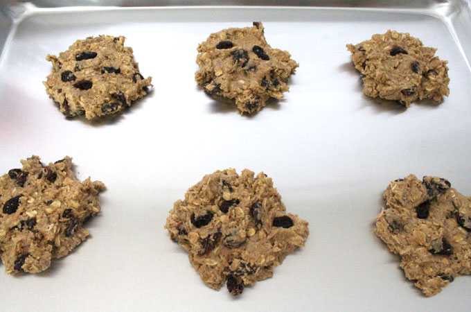 Oatmeal Raisin Cookies ready for baking