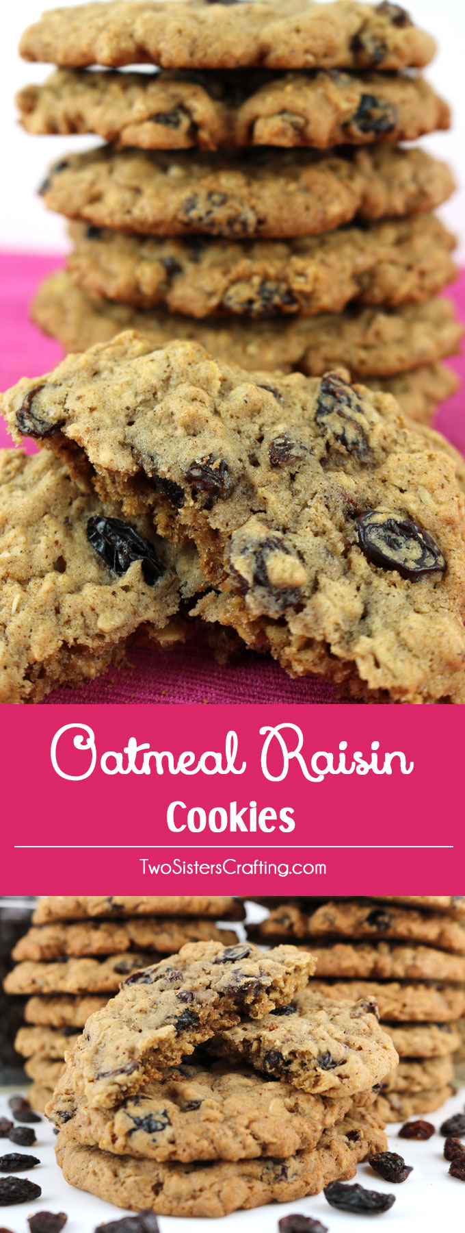 Oatmeal Raisin Cookies - a classic cookie recipe that makes a delicious, soft and chewy Oatmeal Cookie. This is a great oatmeal raisin cookie recipe that you'll find yourself going back to again and again.These easy to make cookies are the homemade cookies you've been looking for. Pin this delicious cookie recipe for later and follow us for more yummy cookie ideas.