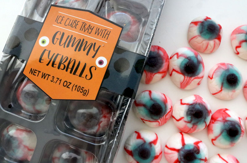 Gummy Eyeballs for our Creepy Eyes Popcorn
