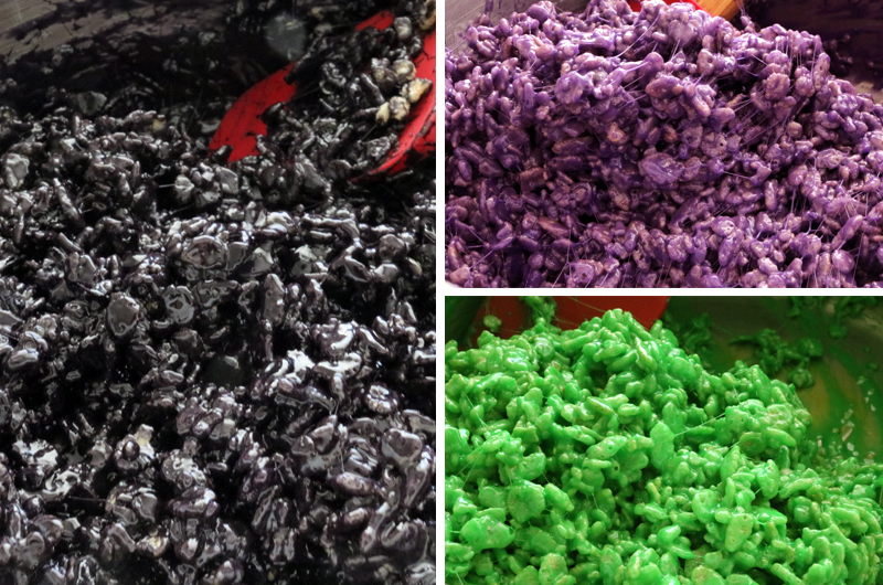 Rice Krispie Treat Mixture for Graveyard Rice Krispie Treats