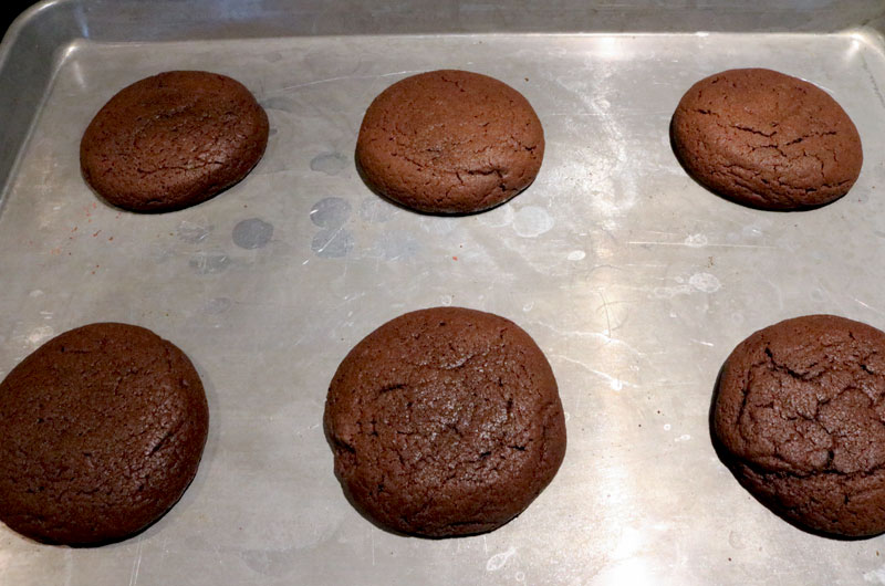 Chocolate Cookies out of the oven