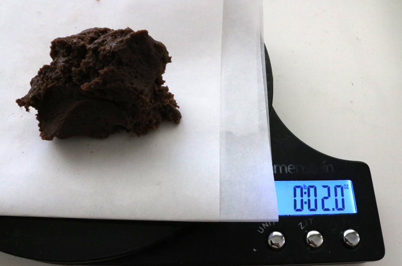 Measuring the Chocolate Cookie dough